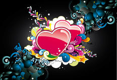 Corações abstratos da cor Fotografia de Stock
