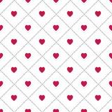 Corações abstratos Fundo sem emenda para seu projeto Ilustração do vetor Conceito do amor Papel de parede bonito Boa ideia para s Fotos de Stock Royalty Free
