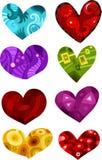 Corações ajustados Imagem de Stock Royalty Free