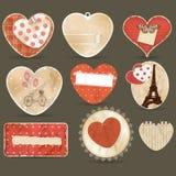 Corações ajustados Fotografia de Stock