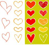 Corações ajustados Foto de Stock