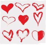 Corações ajustados Fotografia de Stock Royalty Free