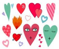 Corações ajustados Fotos de Stock