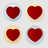 Corações ajustados Imagens de Stock Royalty Free
