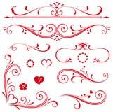 Corações ajustados do rolo Fotografia de Stock