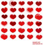 Corações ajustados Vetor EPS 10 Fotografia de Stock Royalty Free
