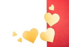 Corações alaranjados Imagens de Stock