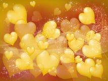 Corações amarelos Imagens de Stock Royalty Free