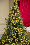 Corações amarelos Imagens de Stock