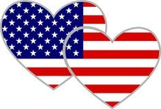 Corações americanos ilustração stock