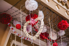Corações, amor do dia de Valentim Foto de Stock