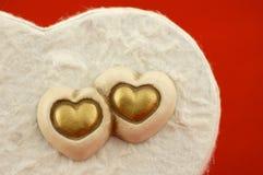 Corações & amor Foto de Stock