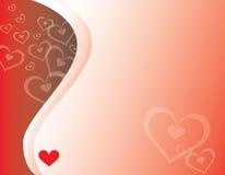 Corações & curvas Ilustração Stock