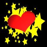 Corações & estrelas Foto de Stock