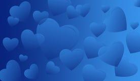Corações azuis ilustração do vetor