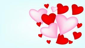 Corações, balão e dia de Valentim feliz ilustração do vetor