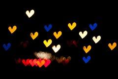 Corações Bokeh Imagem de Stock
