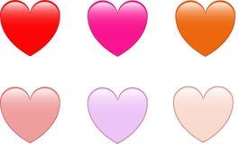 Corações bonitos Foto de Stock