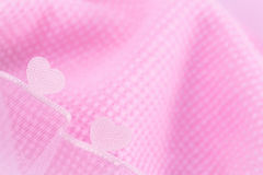Corações bonitos no fundo cor-de-rosa Foto de Stock Royalty Free