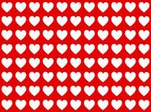 Corações brancos Fotos de Stock Royalty Free