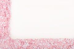 Corações brancos e cor-de-rosa Foto de Stock