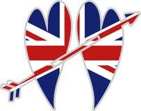 Corações britânicos ilustração royalty free