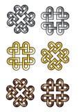 Corações celtas do nó Imagens de Stock