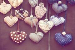 Corações chiques gastos Foto de Stock Royalty Free