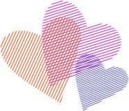 Corações colocados Fotos de Stock