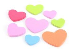 Corações coloridos Fotos de Stock Royalty Free