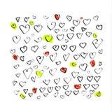 Corações coloridos Foto de Stock Royalty Free