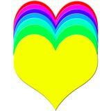 Corações coloridos Fotografia de Stock Royalty Free