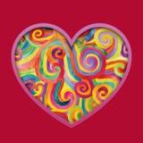 Corações coloridos Fotos de Stock