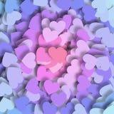 Corações coloridos Ilustração do Vetor