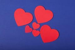 Corações coloridos Imagem de Stock Royalty Free
