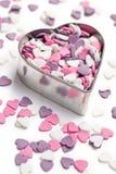 Corações coloridos doces Foto de Stock