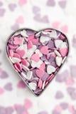 Corações coloridos doces Imagens de Stock