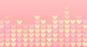 Corações coloridos em um mosaico Foto de Stock Royalty Free