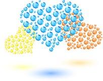 Corações coloridos feitos de cristais pequenos Imagens de Stock Royalty Free