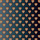 Corações coloridos na obscuridade - fundo cinzento do inclinação Imagens de Stock Royalty Free