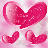 Corações com amor. Imagem de Stock