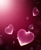 Corações com faísca Imagem de Stock