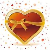 corações com fita Foto de Stock