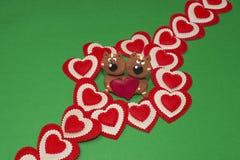Corações com gatos Foto de Stock Royalty Free
