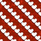 Corações com sombra Imagens de Stock