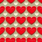 Corações com sombra Foto de Stock Royalty Free