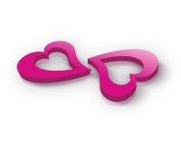 Corações cor-de-rosa Foto de Stock