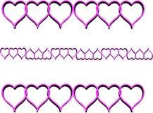 Corações cor-de-rosa Fotografia de Stock Royalty Free