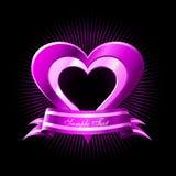 Corações cor-de-rosa Fotos de Stock