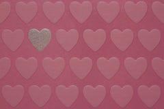Corações cor-de-rosa Fotografia de Stock